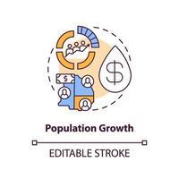 icona del concetto di crescita della popolazione vettore