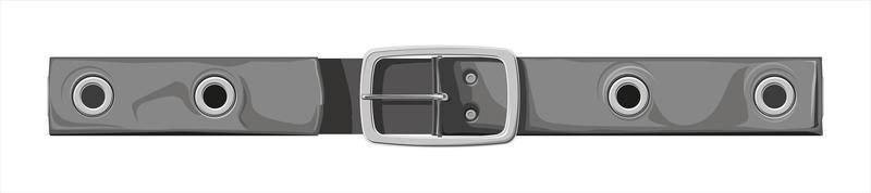 cintura - illustrazione vettoriale isolato su sfondo bianco. cintura per pantaloni o gonne