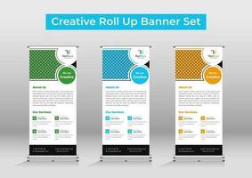 modello di banner roll up aziendale o segnaletica vettore