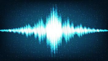 onda sonora digitale hi-tech su scala bassa e alta vettore