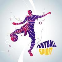 sagoma di spruzzata di spirito di calcio di calcio vettore