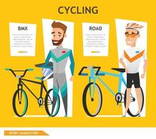 informazioni grafiche sport ciclismo vettore