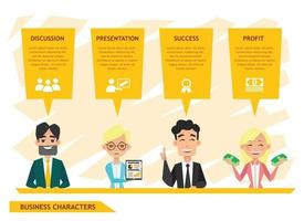 design di personaggi di uomini d'affari vettore
