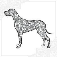 mandala di cane. elementi decorativi vintage. modello orientale, illustrazione vettoriale. vettore