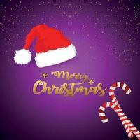 Buon Natale invito con illustrazione vettoriale su sfondo creativo