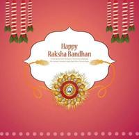 festival indiano del biglietto di auguri celebrazione felice raksha bandhan vettore