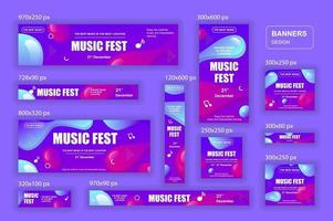 raccolta banner web di diverse dimensioni per dispositivi mobili e social network, annunci di shopping poster e materiale di marketing vettore