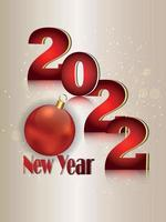 biglietto di auguri di felice anno nuovo invito con illustrazione vettoriale e sfondo