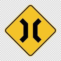 avvicinando il segno stretto ponte su sfondo trasparente vettore