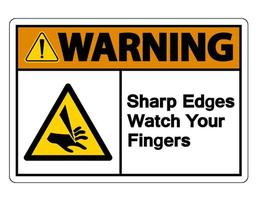 Waring spigoli vivi guarda il tuo segno di simbolo delle dita su sfondo bianco vettore