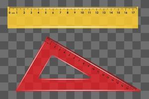 righello set quadrato isolato vettore