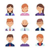 collezione di avatar di uomini d'affari vettore