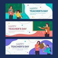 raccolta di banner del giorno dell'insegnante vettore