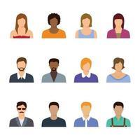 collezione di icone di avatar di persone vettore