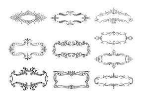 10 vettori di Banner ornamentali floreali