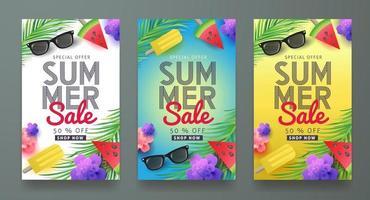 modello di sfondo banner poster di vendita estiva vettore