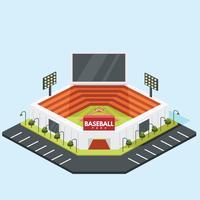 Progettazione isometrica di vettore del parco di baseball