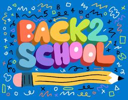 torna a scuola lettering
