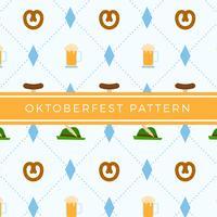 Vettore di modello elemento Oktoberfest piatto