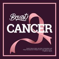 Nastro di consapevolezza del cancro al seno vettore