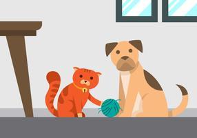 gatto che gioca clip art vettore