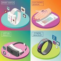 illustrazione di vettore di concetto di design isometrico di elettronica portatile