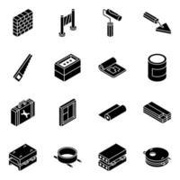 strumenti e attrezzature per l'edilizia vettore