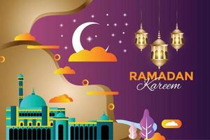 festival islamico tradizionale di Ramadan Kareem religioso vettore