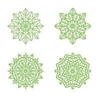 insieme di progettazione del fondo ornamentale della mandala di lusso vettore