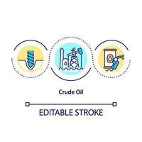 icona del concetto di petrolio greggio vettore
