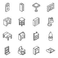 accessori ed elementi per la casa vettore