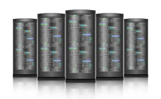 server di rete hardware del computer isolato su sfondo bianco, illustrazione vettoriale