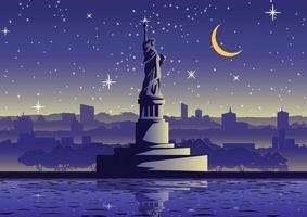 statua della libertà, famoso punto di riferimento degli stati uniti vettore