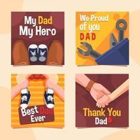 papà e figlio per la carta di festa del papà vettore
