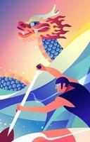 concetto di festival della barca del drago vettore