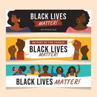 banner della campagna di black lives matter vettore