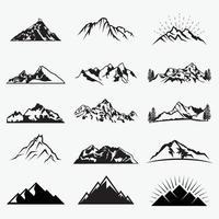 modelli di progettazione di logo di vettore di montagne