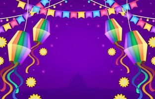 festa junina sfondo festività vettore
