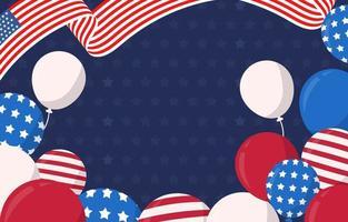 4 luglio usa sfondo del giorno dell'indipendenza vettore
