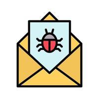 icona di posta elettronica di spam vettore