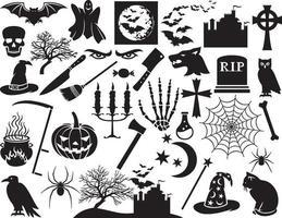 collezione di icone di halloween vettore