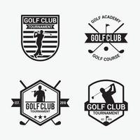 set di modelli di disegno vettoriale distintivi logo golf club