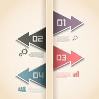 Layout di opzioni infografica moderna