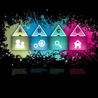 Layout infografica grunge