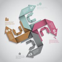 Progettazione di layout di opzioni infografica moderna