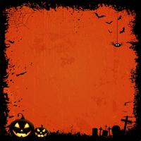 Grunge background di Halloween vettore