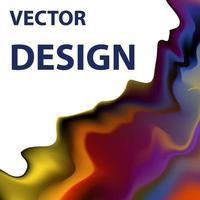 immagine di sfondo vettoriale con combinazione di colori brillanti