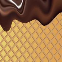 immagine di sfondo vettoriale che illustra la massa di cioccolato liquido con granelli