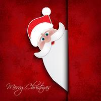 Sfondo di Natale santa vettore