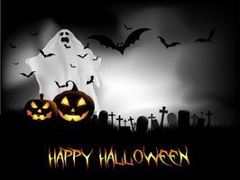Sfondo di notte di Halloween vettore